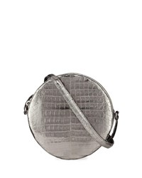 Nancy Gonzalez Sienna Metallic Circle Crossbody Bag Pewter