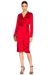 Lanvin Wrap Shirt Dress In Red
