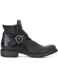 Fiorentini Baker Buckle Detail Ankle Boots Black