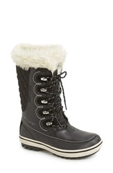 Women's Helly Hansen 'Garibaldi' Waterproof Snow Boot Black Natural Feather Grey