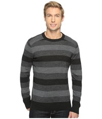 Smartwool Kiva Ridge Stripe Crew Charcoal Heahter Men's Clothing Black