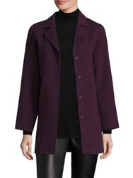 Eileen Fisher Wool Blend Swing Coat Raisonette