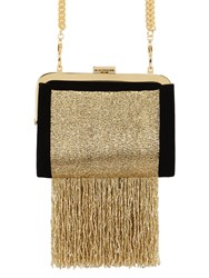 Balmain The Day Beaded Velvet Clutch