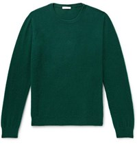 Boglioli Brushed Wool And Cashmere Blend Sweater Forest Green