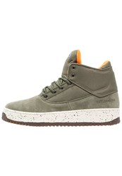 Cayler And Sons Shutdown Hightop Trainers Army Green Flight Orange Cream Sand