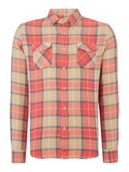 Red Soul Check Shirt With Pockets Red