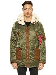 Alpha Industries N3 B3 Nylon And Faux Shearling Parka