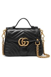 Gucci Gg Marmont Mini Quilted Leather Shoulder Bag Black