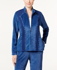 Alfred Dunner Adirondack Trail Embellished Jacket Denim