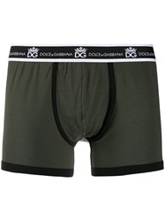 Dolce And Gabbana Branded Boxer Shorts Green