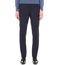 Tom Ford Regular Fit Wool Trousers Navy
