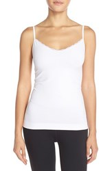 Women's Nordstrom Lingerie Lace Trim Two Way Seamless Camisole White
