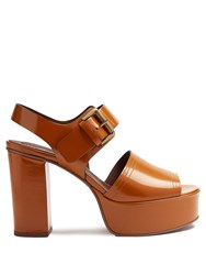 See By Chloe Leather Platform Sandals Tan