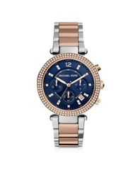 Michael Kors Parker Two Tone Stainless Steel Women's Watch Gold