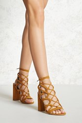 Forever 21 Faux Suede Braided Heels