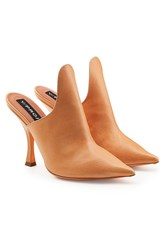 Y Project Leather Mules Camel