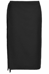 Longline Wrap Skirt By Boutique Black