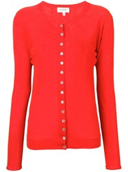 Christophe Lemaire Buttoned Cardigan Red