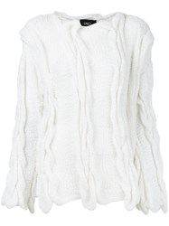 Lalo Cable Knit Sweater White