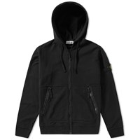 Stone Island Garment Dyed Fleece Hoody Black