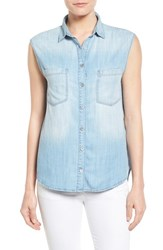 Women's Mavi Jeans High Low Lightweight Denim Shirt