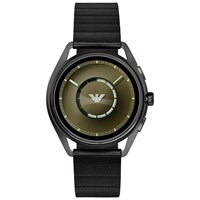 Emporio Armani Connected Art5009 'S Touch Screen Leather Strap Smartwatch Black Green