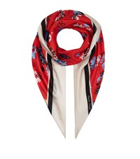 Claudie Pierlot Floral Silk Scarf Red