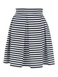 Jane Norman Stripe Skater Skirt Black White