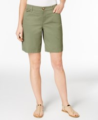 Charter Club Twill Shorts Only At Macy's Olive Sprig