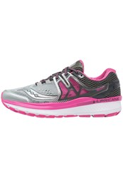 Saucony Hurricane Iso 3 Stabilty Running Shoes Grey Pink White