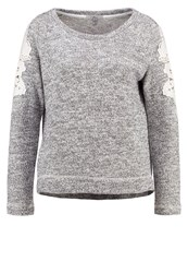 Mavi Jeans Jumper Grey Melange Mottled Grey