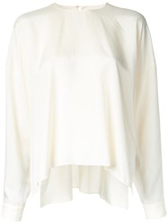 Ms Min Flared Blouse White