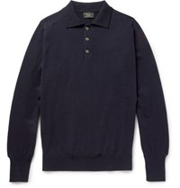 Emma Willis Cashmere Polo Shirt Midnight Blue