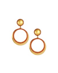 Jose And Maria Barrera Coral Clip On Hoop Earrings
