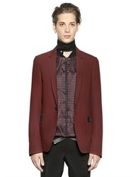 Lanvin Micro Honeycomb Wool And Viscose Jacket