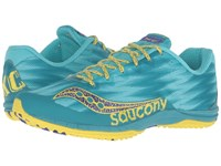 Saucony Kilkenny Xc Flat Teal Yellow Women's Shoes White