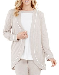 Carole Hochman French Terry Open Cardigan Mocha