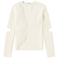 Helmut Lang 1997 Re Edition Elbow Cut Out Sweater Neutrals