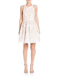Alice Olivia Ladonna Racerback Party Dress Off White Sesame