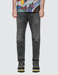 Stella Mccartney Raw Hem Distressed Denim Jeans Black
