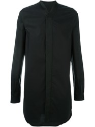 Rick Owens V Neck Long Shirt Black