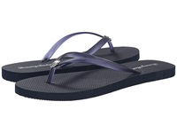 Tommy Bahama Whykiki Flat Solid Navy Women's Toe Open Shoes