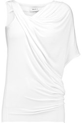 Bailey 44 Tempest Asymmetric Draped Stretch Jersey Top White