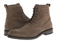 Aquatalia By Marvin K Forrest Dark Taupe Dress Suede Men's Lace Up Boots Brown