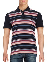 Original Penguin Striped Polo Dark Sapphire