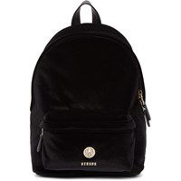 Versus Black Velvet Lion Backpack