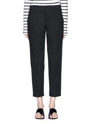 Vince Cuffed Cotton Chino Pants Black