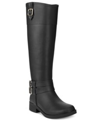 Inc International Concepts Women's Federica Rain Boots Only At Macy's Women's Shoes Black Matte