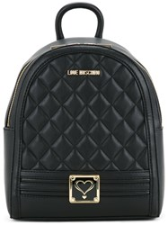 Love Moschino Quilted Backpack Women Polyurethane One Size Black