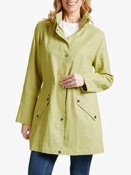 Four Seasons Linen Blend Hooded Parka Citrus